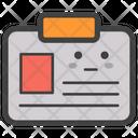 Id Badge Badge Emoji Emoticon Icon