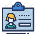 Id Badge Conference Icon
