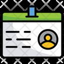 Id Card Identity Employee Card Icon