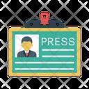 Id Badge Press Icon