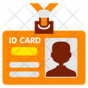 Id Card Office Working Icon