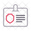 Id Badge Security Icon