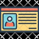 Id Card Identification Card Icon