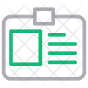 Id Card Businessman Project Icon
