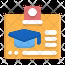School Id Badge Id Card Icon