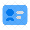 Identity Id Badge Icon