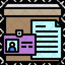 Id Card File Paper Icon