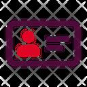 Contact Id Card Ui Icon