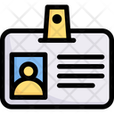 Business Marketing Id Card Icon