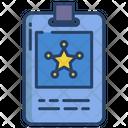 Id Card Police Id Card Identification Card Icon