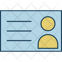 Id Card Student Infographic Icon