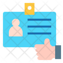 Id Card Indentity User Icon