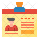 Id Card Employee Card Identity Card Icon
