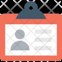 Badge Identity Card Icon