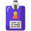 Id Card Pass Business Icon