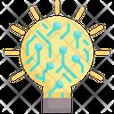 Idea Intelligence Lightbulb Icon