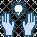 Hand Blub Creative Icon
