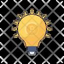 Idea Creative Bitcoin Icon
