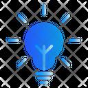 Idea Lamp Strategy Icon