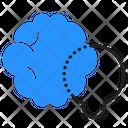 Idea Brain Lightbulb Icon