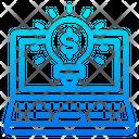 Idea Laptop Light Icon