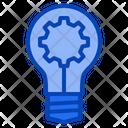 Idea Bulb Gear Icon