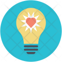 Idea Thinking Heart Icon