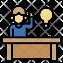 Idea Objective Illumination Icon