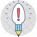 Bulb Pencil Innovation Icon
