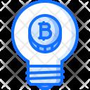 Idea Bulb Bitcoin Icon