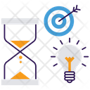 Idea And Goal Business Target Deadline Icon