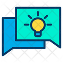 Creative Idea Innovative Idea Chatting Icon