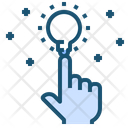 Hand Idea Blub Icon