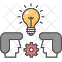 Creative Idea Exchange Ideas Idea Development Icon