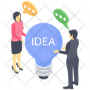 Idea Discussion Idea Sharing Idea Communication Icon
