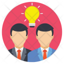 Bulb Ideas Businessmen Icon
