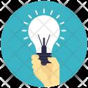 Bulb Holding Innovation Icon