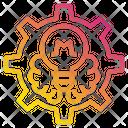 Gear Brain Lamp Icon