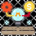 Idea Network Business Icon