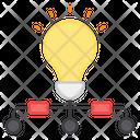 Idea Network Creative Network Innovation Network Icon