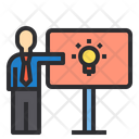 Idea-presentation-inovation Icon