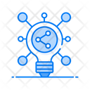 Idea Share Creative Network Creative Marketing Icon