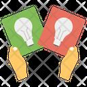 Idea Sharing Idea Generation Knowledge Transfer Icon
