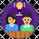 Thought Sharing Idea Sharing Collaborative Thinking Icon