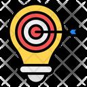 Idea Target Marketing Idea Objective Target Icon