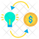Make Money Making Money Idea Icon