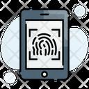 Biometric Finger Identification Icon
