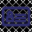 Identification Information Id Card Icon