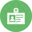 Id Identification Badge Icon