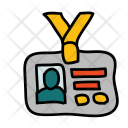 Identification Card Badge Icon